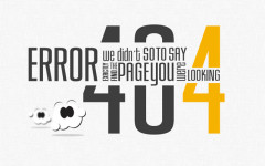 Design Tips For 404 Error Page