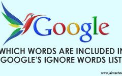 Which Words Are Included In Google's Ignore Words List?