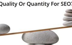 Should You Opt For Quantity Or Quality For SEO?