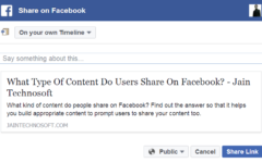 What Type Of Content Do Users Share On Facebook?