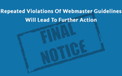 Google Warns Against Repeated Violation Of Webmaster Guidelines